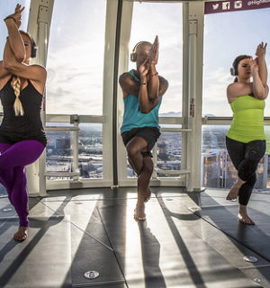 Elevate Your Yoga Practice From High Above the Las Vegas Strip